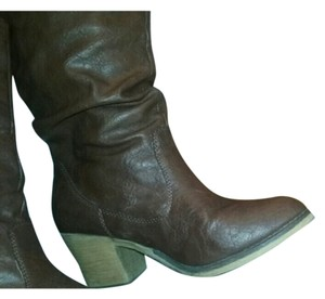 Charles Albert Western Cowgirl Brown Boots