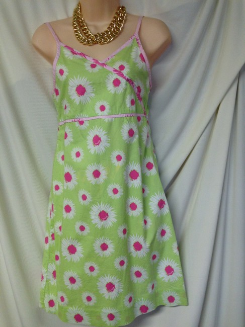 Tommy Hilfiger short dress multi Cute Floral Print Sundress Size Small Mint on Tradesy