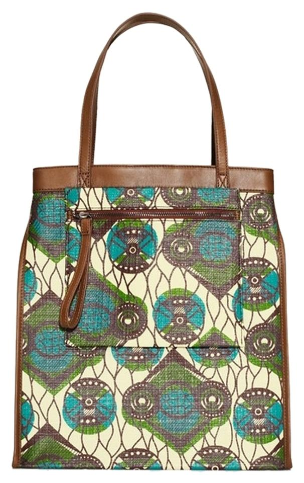 af79086afc Marni For H m Paisley Shopper Brown Coated Canvas   Leather Tote ...