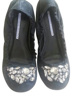Vera Wang Lavender Label Ballet Bling Black Flats