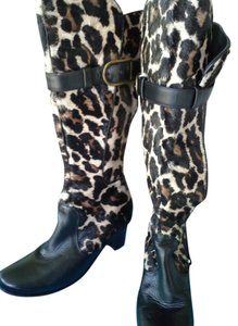 Bo Botte Made in France Fur black and leopard Boots