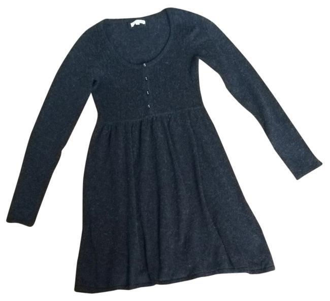 Item - Charcoal Henley Sweater Above Knee Short Casual Dress Size 4 (S)