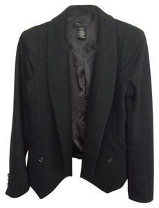 MM Couture Shawl Collar Open Neck Black Blazer