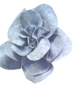 Other Oversized Grey Felt Flower Pin