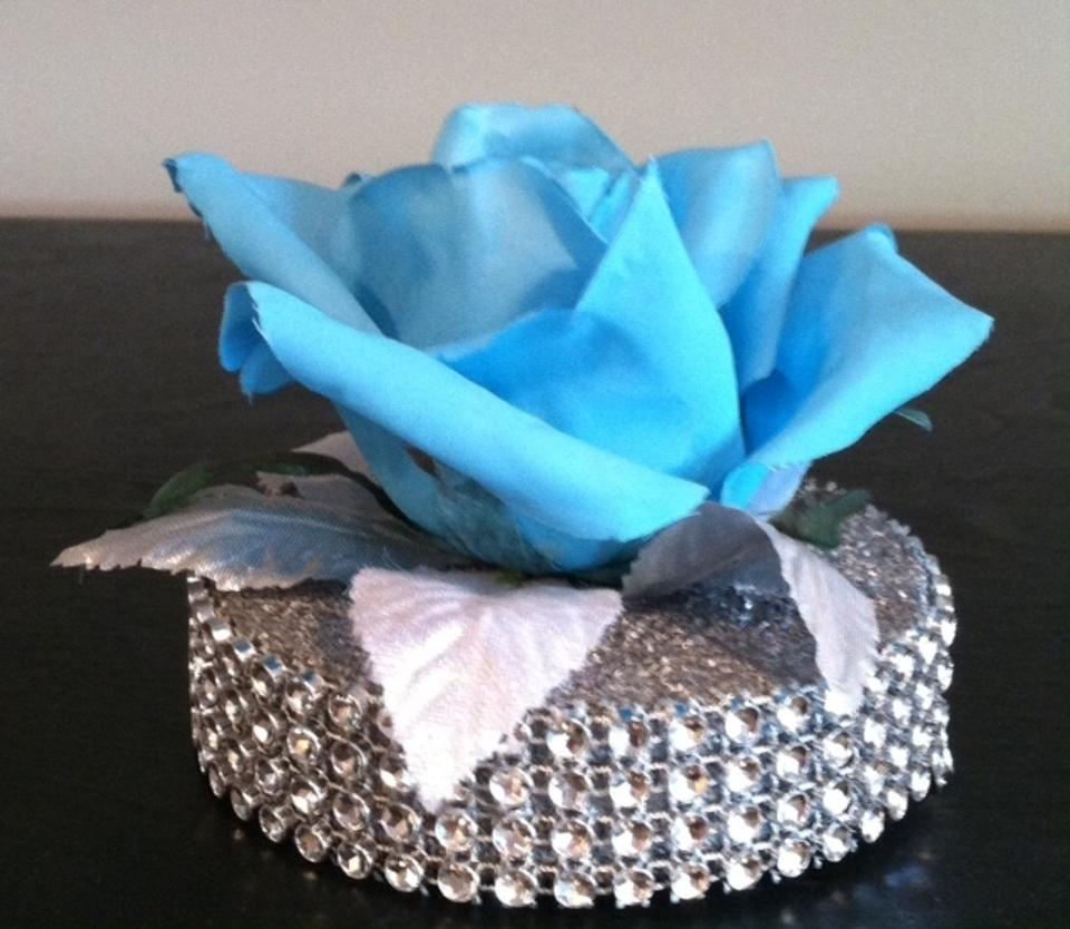 Tiffany Blue Flowers With Silver Bling Ring Tradesy Weddings