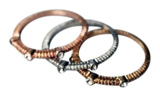 GOLD SILVER AND ROSEGOLD STACKABLE RINGS SIZE 8 GOLD SILVER AND ROSEGOLD STACKABLE RINGS SIZE 8