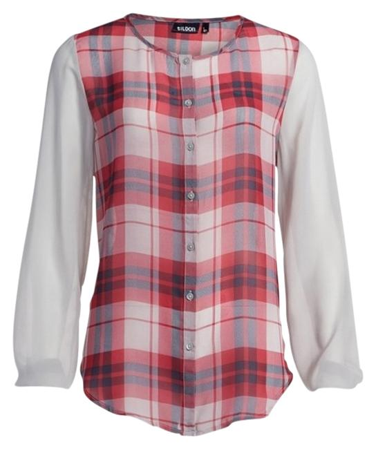 Preload https://item4.tradesy.com/images/tildon-grey-and-red-sheer-plaid-blouse-size-2-xs-957433-0-0.jpg?width=400&height=650