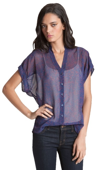 Red Haute Stars Slouchy Sheer 529816_3 Team Usa And Of July Stars Top Blue
