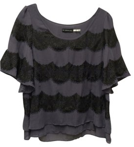 Addison Top Purple & Black Lace