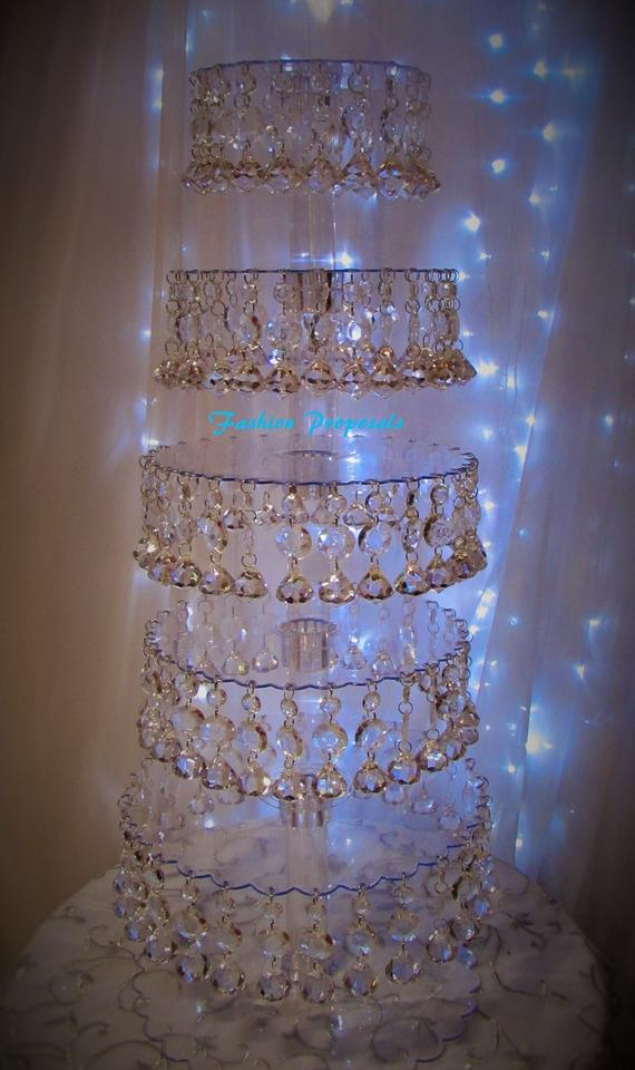 wedding cake stand with hanging crystals wedding cupcake tower cupcake stand hanging acrylic 25684
