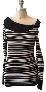 White House | Black Market Soft Ribbed Knit Striped Off The Sweater