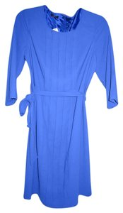 Talbots Belted Pleated Polyester Dress