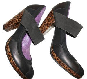 Poetic License Black/leopard/purple Pumps