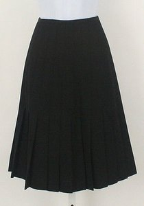 Dana Buchman Black Wool Skirt