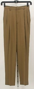 Ellen Tracy X Pea Green Front Pleat Trousers B67 Pants