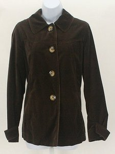 Boden Brown Velour Green Jacket