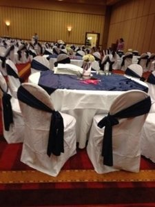 White Chair Covers and Much More Reception Decoration