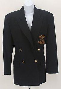 Ellen Tracy Ellen Tracy Navy Camel Crested Double Breasted Blazer B241
