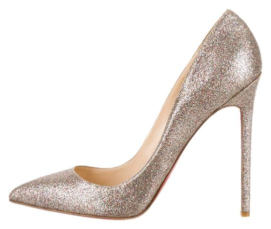 Preload https://item2.tradesy.com/images/christian-louboutin-silver-gold-multicolor-metallic-glitter-pointed-toe-stiletto-395-pumps-size-us-9-9576766-0-1.jpg?width=440&height=440