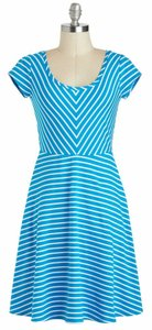 Ya Los Angeles short dress Blue Modcloth Stretch Scoop Neck on Tradesy