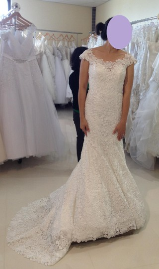 Allure Bridals Super Sale Lace C249 Feminine Wedding Dress Size 8 (M) Image 3