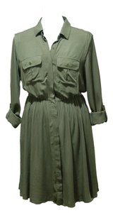 Anthropologie short dress Moss Green Shirt on Tradesy