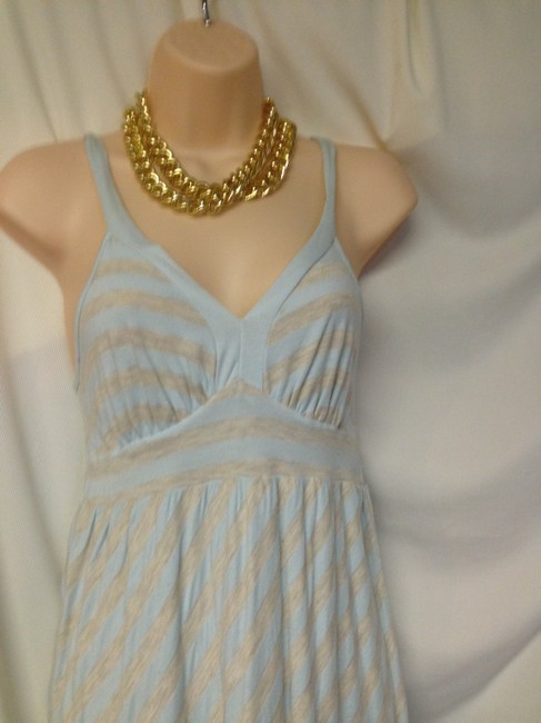Ella Moss short dress grey-aqua Cute Cotton Knit Sundress Size Small on Tradesy