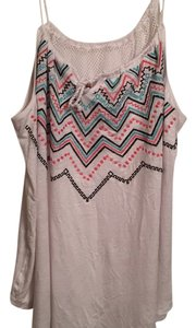Maurices Top White and multicolor embroidery