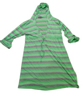 Lucy Love Green And Grey hooded Cover Up