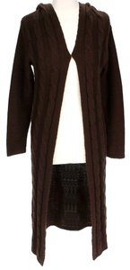 525 America Full Length Cable Knit Hooded Cardigan