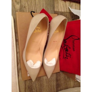 Christian Louboutin Taupe/Baby pink Pumps