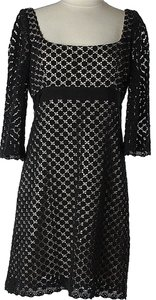 MILLY Longsleeve Empire Waist Lace Dress