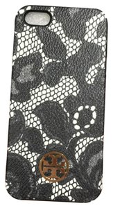 Tory Burch Tory Burch Kerrington Iphone 5/5s Smart Phone PVC Hard Case Ferrara Lace Black White Silver Logo New