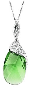 Kaleidoscope Price Reduced until 5/30...Sterling Silver Green Crystal Pendant with Swarovski Elements (NECKLACE ONLY)