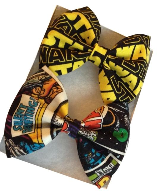 Item - Yellow Black Grey Blue Red Star Wars Bows Set Collection Barrette Or Bowtie Hair Accessory