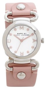 Marc by Marc Jacobs 10% OFF until 11/30-Molly Hazy Rose Leather Strap Watch