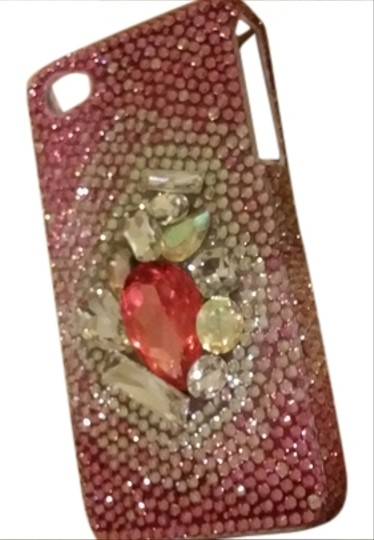 Preload https://item4.tradesy.com/images/pink-bedazzled-swarovski-crystal-iphone-case-new-tech-accessory-958238-0-0.jpg?width=440&height=440