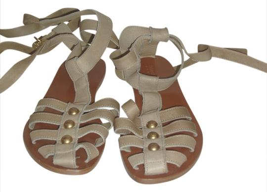 Patrizia Pepe Gladiator Leather Beige Sandals