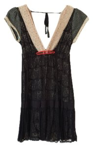 Free People short dress Black lace on Tradesy