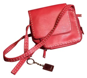 Nine West Red Hardware Pockets Galore! Color Red Was Measured As Strp Shown Can Be Made Longer Or New Cross Body Bag