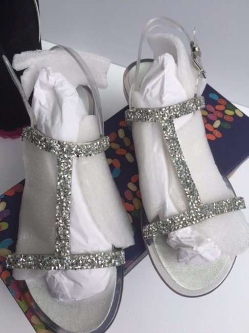 Item - Clear/ Silver/ Crystals Box New In Sandals Size US 6 Regular (M, B)