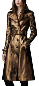 Burberry Leather Eyelet Trench Coat