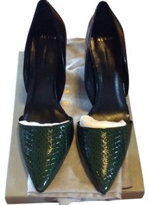 Aerin Black and Spruce Pumps