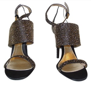 Sergio Rossi Black and Gold Pumps
