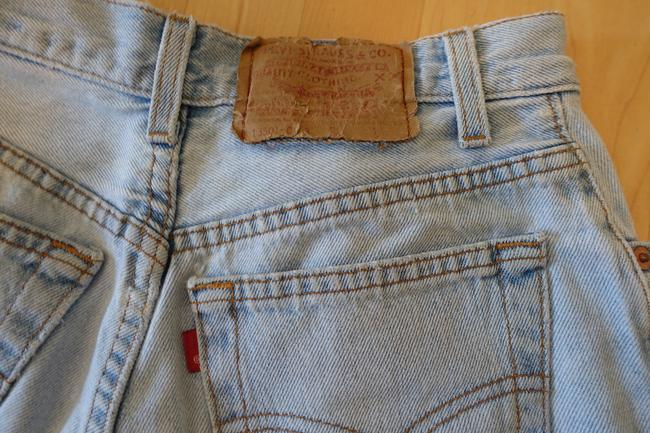 Levi's Cut Offs High Waisted Summer Urban Outfitters Acid Wash Denim Shorts-Acid
