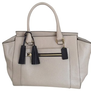 Coach Satchel in Beige w/Black trim