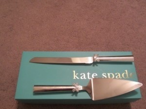 Kate Spade Silver Plate Cake Knife and