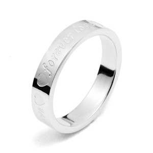 Silver Bogo Free Unisex Forever Love Ring Free Shipping Men's Wedding Band