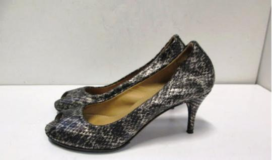Lanvin Grey and White Pumps