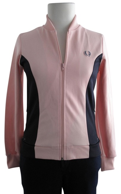 Item - Pink/Navy Track Sporty Athletic Activewear Outerwear Size 6 (S, 28)